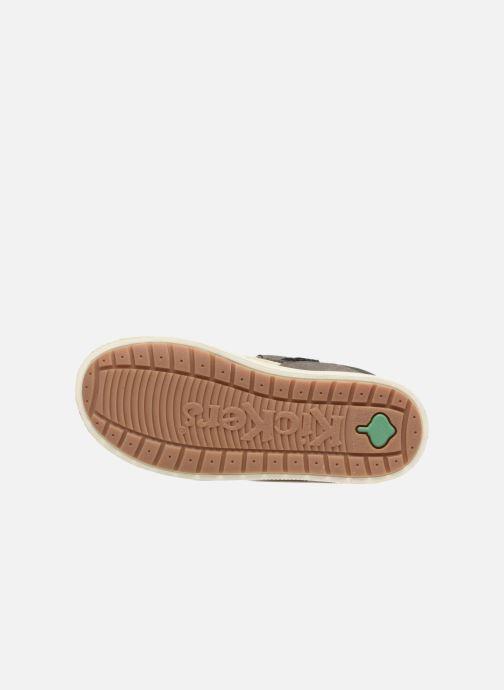 Schoenen met klitteband Kickers ZIGUERO Grijs boven