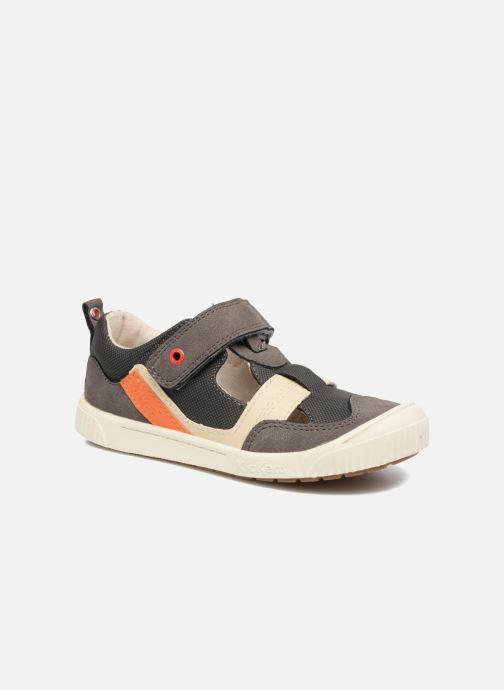 Sko med velcro Kickers ZIGUERO Grå detaljeret billede af skoene