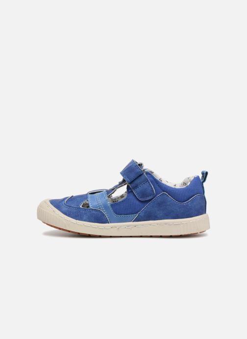 Zapatos con velcro Kickers ZIGUERO Azul vista de frente