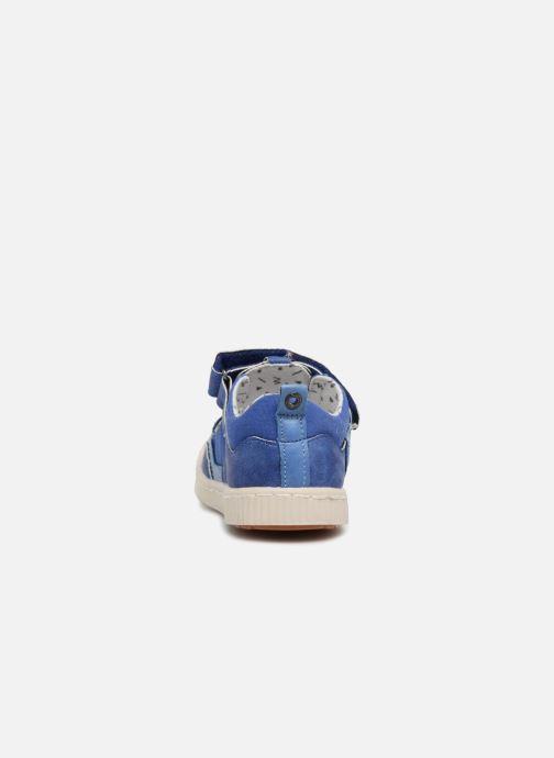 Zapatos con velcro Kickers ZIGUERO Azul vista lateral derecha