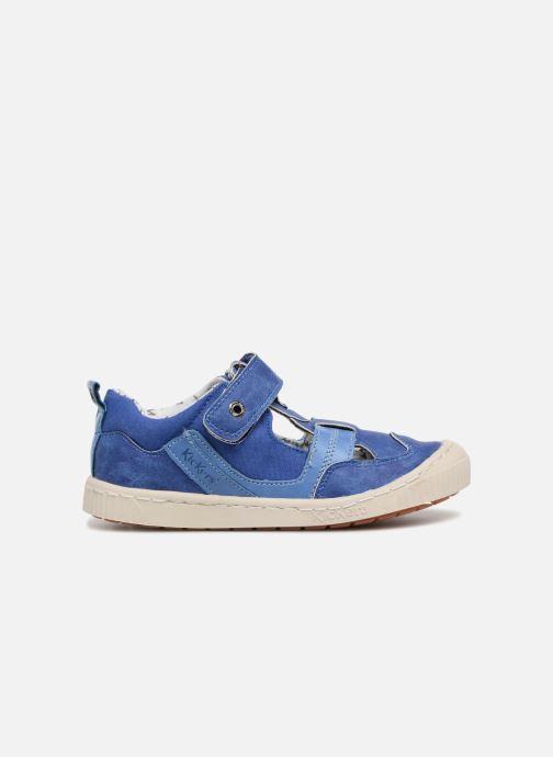 Zapatos con velcro Kickers ZIGUERO Azul vistra trasera