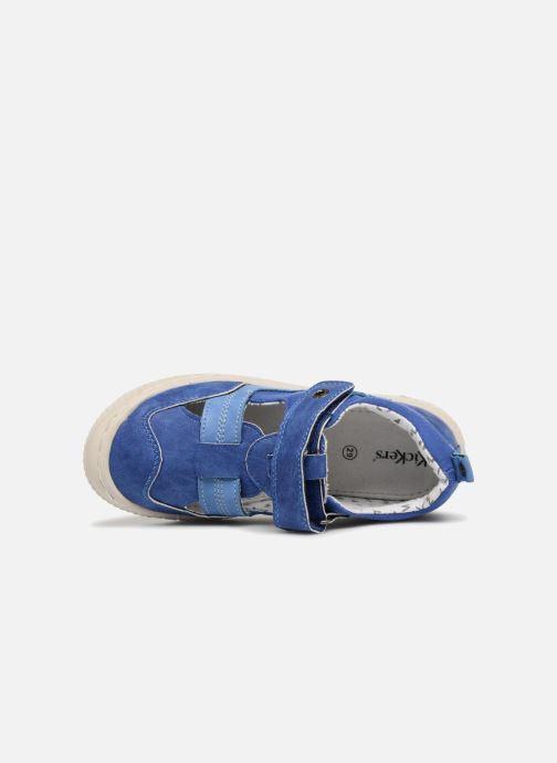 Zapatos con velcro Kickers ZIGUERO Azul vista lateral izquierda