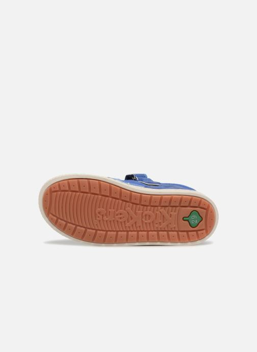 Chaussures à scratch Kickers ZIGUERO Bleu vue haut