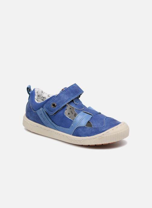 Zapatos con velcro Kickers ZIGUERO Azul vista de detalle / par