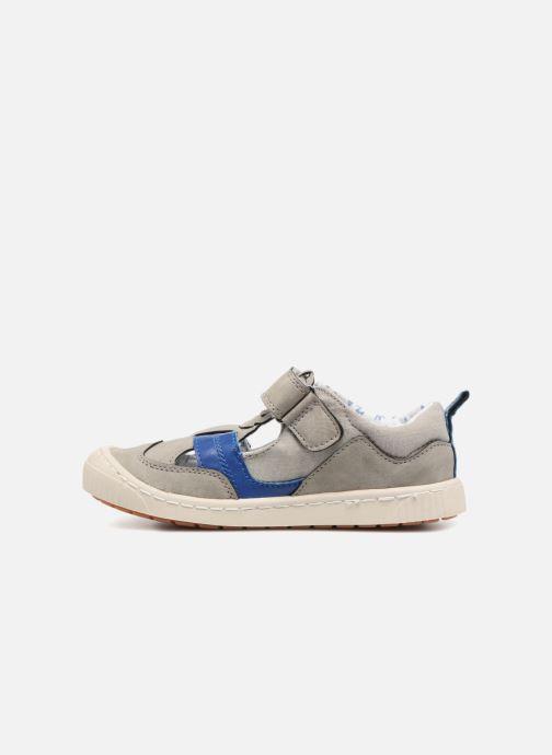 Chaussures à scratch Kickers ZIGUERO Gris vue face