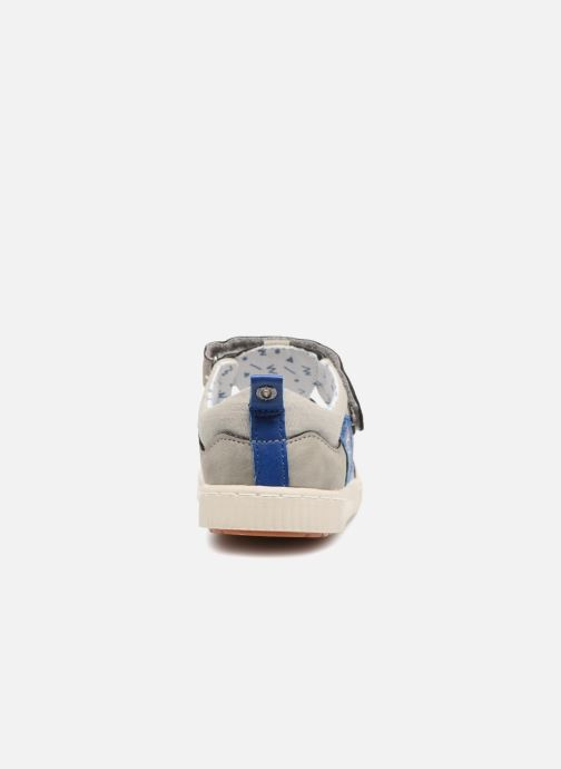 Chaussures à scratch Kickers ZIGUERO Gris vue droite