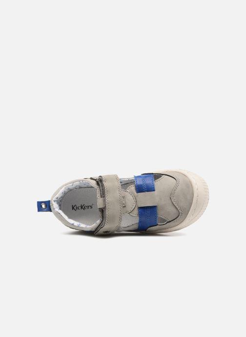 Schoenen met klitteband Kickers ZIGUERO Grijs links