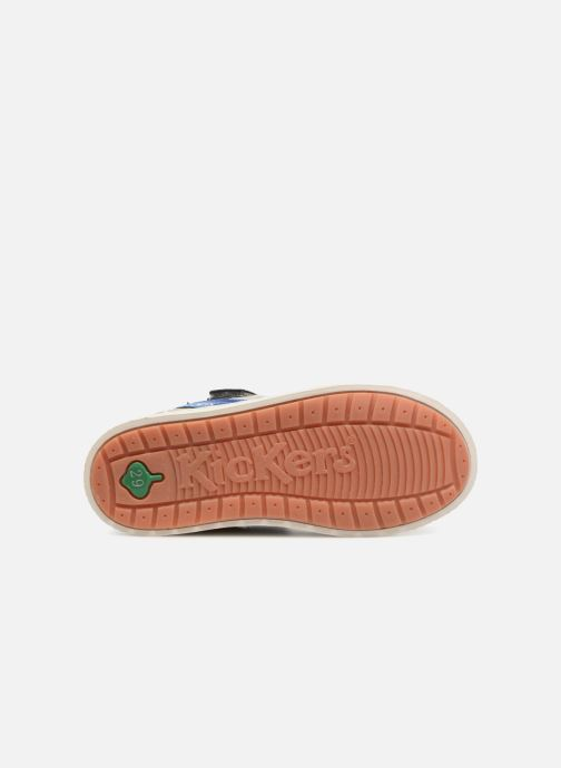 Chaussures à scratch Kickers ZIGUERO Gris vue haut