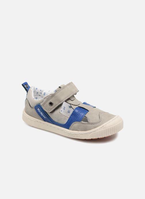 Schoenen met klitteband Kickers ZIGUERO Grijs detail