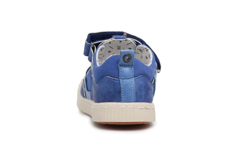 mit Klettverschluss Kickers ZIGUERO blau ansicht von rechts