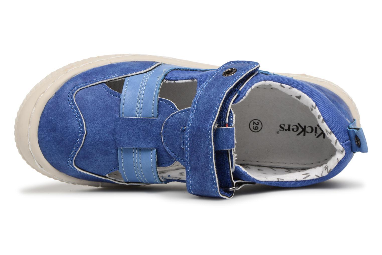 mit Klettverschluss Kickers ZIGUERO blau ansicht von links
