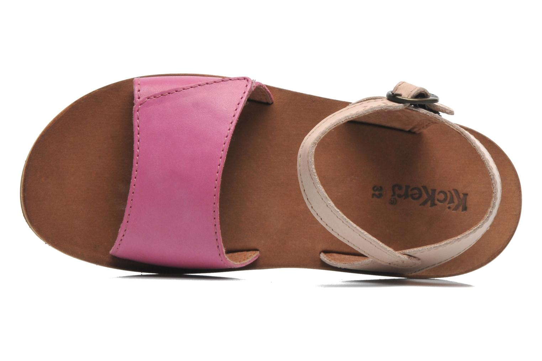 Sandaler Kickers SPARTINY Pink se fra venstre