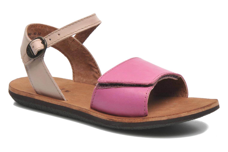 Sandaler Kickers SPARTINY Pink detaljeret billede af skoene