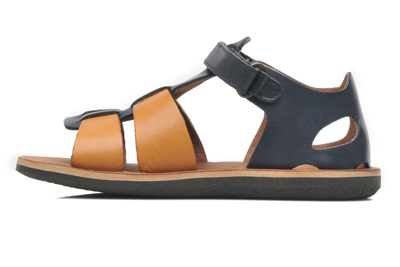 Sandales et nu-pieds Kickers SPAZZO Bleu vue face