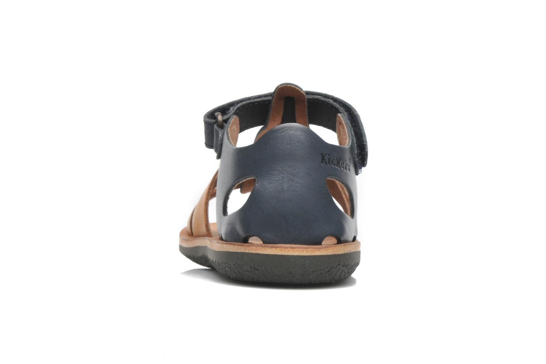Sandales et nu-pieds Kickers SPAZZO Bleu vue droite