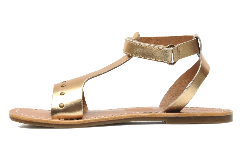 Sandales et nu-pieds Kickers DIZAINE V Or et bronze vue face
