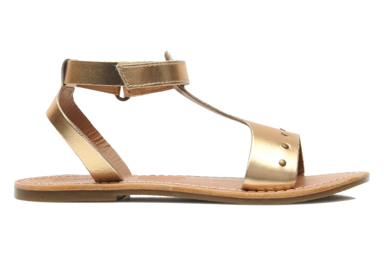 Sandales et nu-pieds Kickers DIZAINE V Or et bronze vue derrière