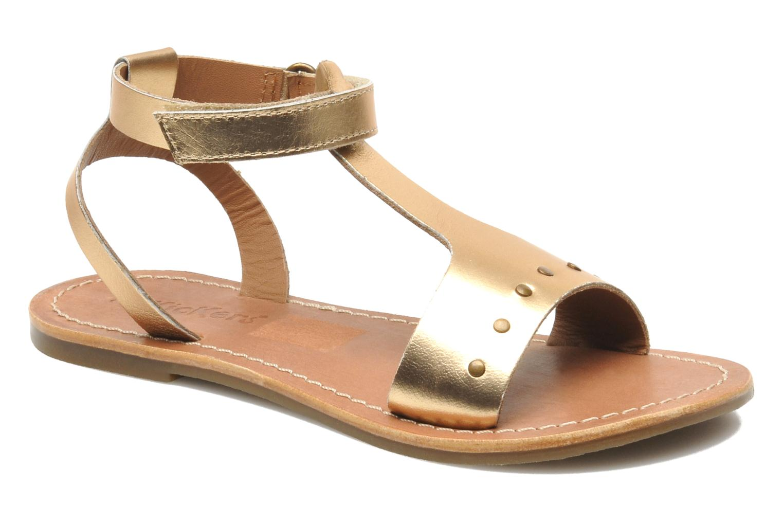 Sandales et nu-pieds Kickers DIZAINE V Or et bronze vue détail/paire