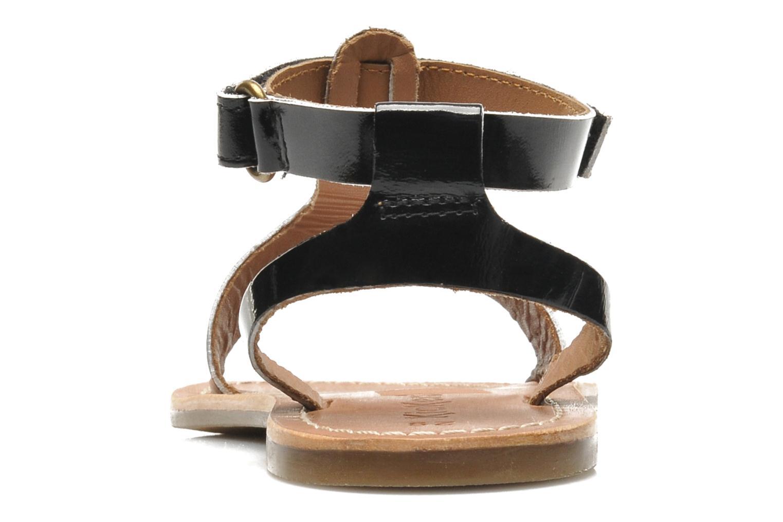 Sandales et nu-pieds Kickers DIZAINE V Noir vue droite