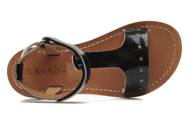 Sandales et nu-pieds Kickers DIZAINE V Noir vue gauche