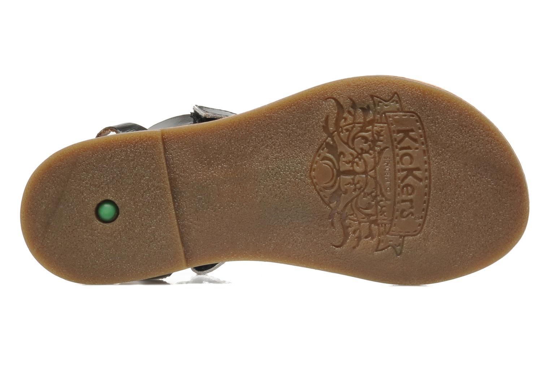 Sandales et nu-pieds Kickers DIZAINE V Noir vue haut