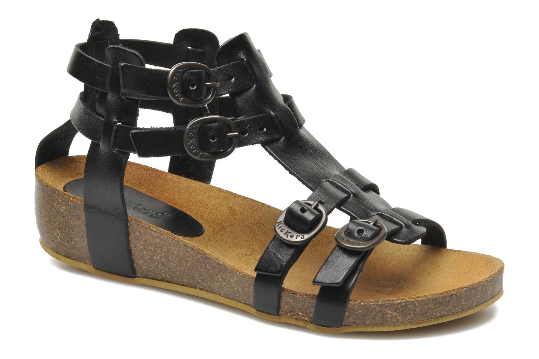Sandales et nu-pieds Kickers BOMDIA Noir vue détail/paire