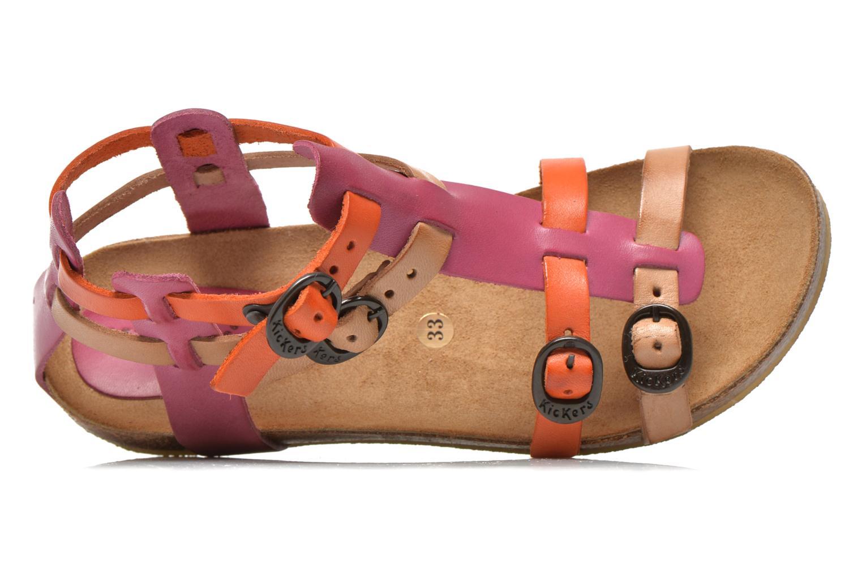 Sandales et nu-pieds Kickers BOMDIA Rose vue gauche