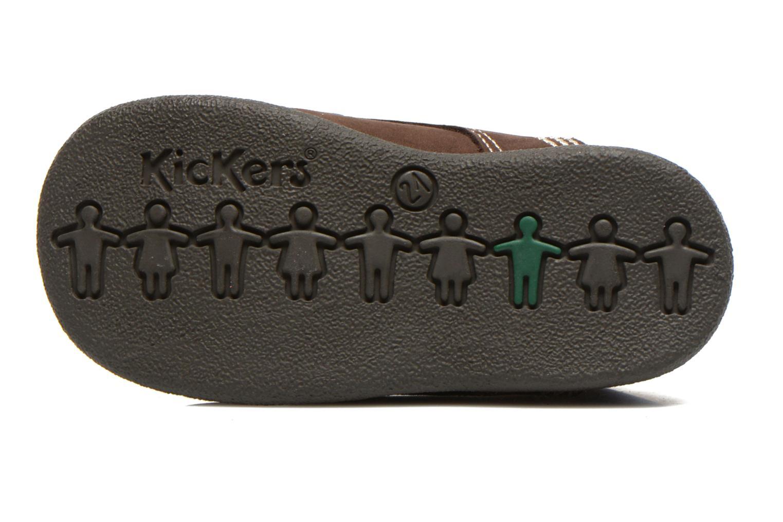 Botines  Kickers Babystan Marrón vista de arriba