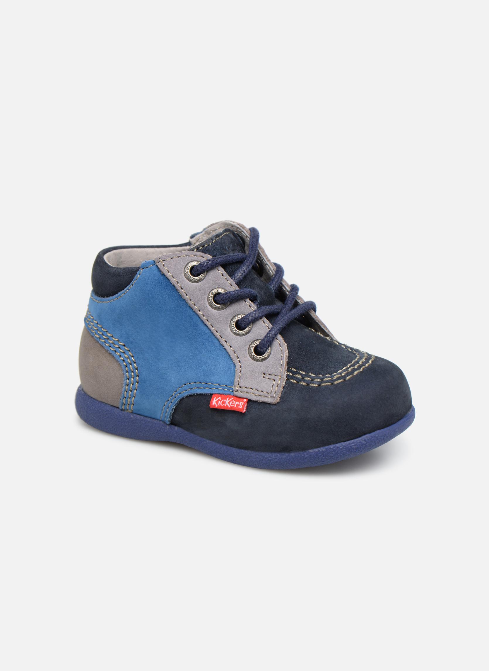 Bottines et boots Kickers Babystan Bleu vue détail/paire