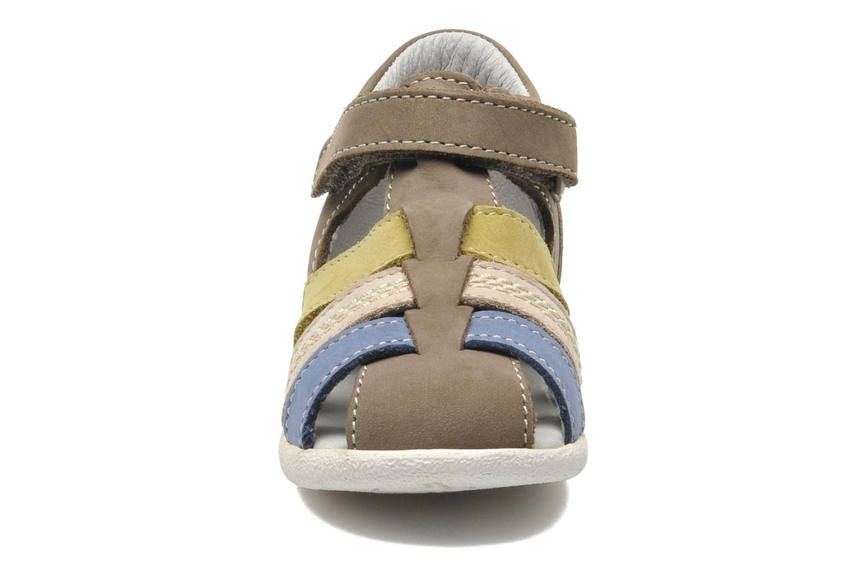 Sandales et nu-pieds Kickers BABYSUN2 Gris vue portées chaussures