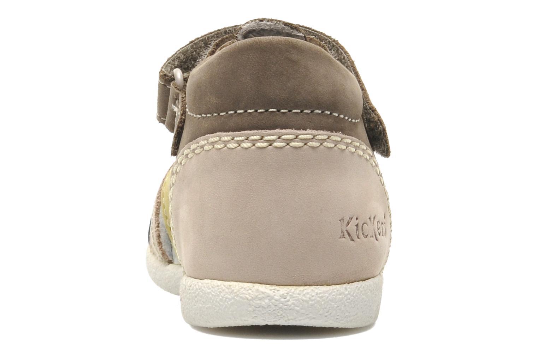 Sandales et nu-pieds Kickers BABYSUN2 Gris vue droite