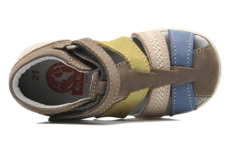 Sandales et nu-pieds Kickers BABYSUN2 Gris vue gauche