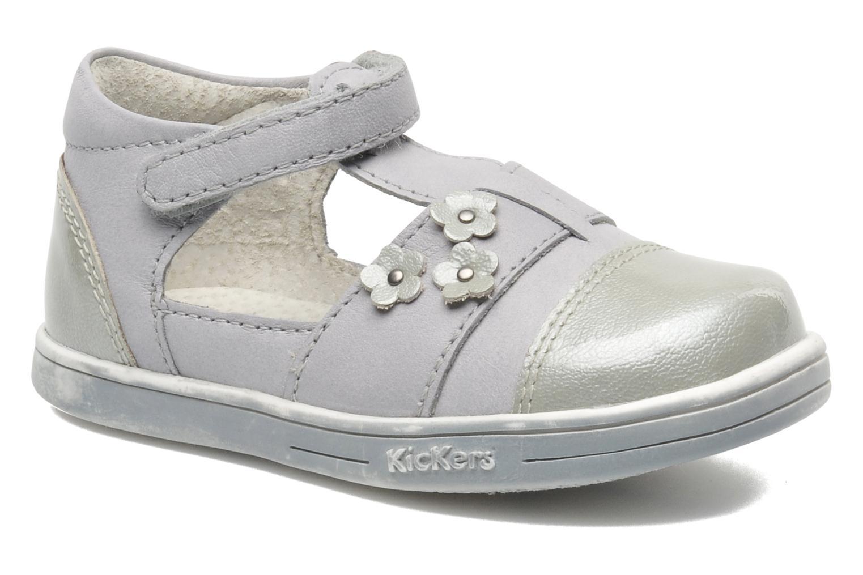 Chaussures à scratch Kickers TREFUN Gris vue détail/paire