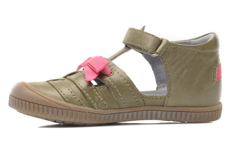 Chaussures à scratch Kickers NOVELLA Vert vue face