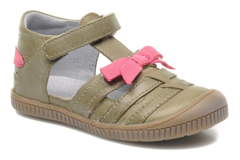 Chaussures à scratch Kickers NOVELLA Vert vue détail/paire