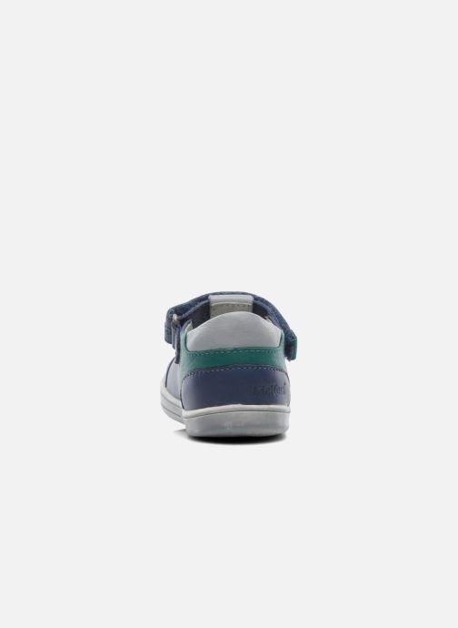 Chaussures à scratch Kickers TROPICO Bleu vue droite