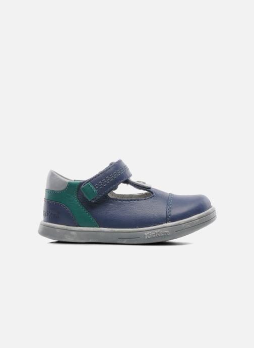 Chaussures à scratch Kickers TROPICO Bleu vue derrière