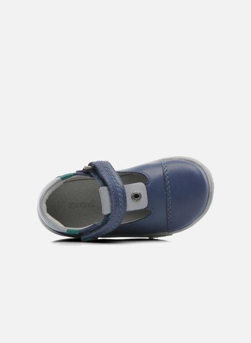 Chaussures à scratch Kickers TROPICO Bleu vue gauche
