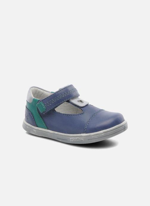 Chaussures à scratch Kickers TROPICO Bleu vue détail/paire