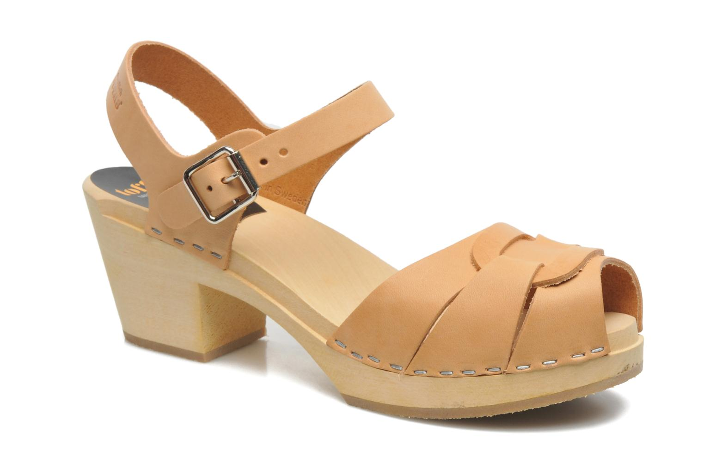 Sandales et nu-pieds Swedish Hasbeens Peep Toe High Beige vue détail/paire
