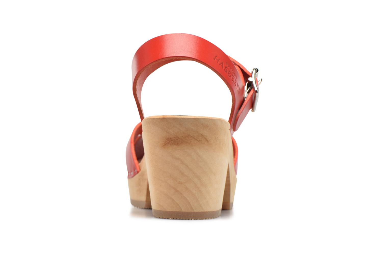 Sandales et nu-pieds Swedish Hasbeens Peep Toe High Rouge vue droite