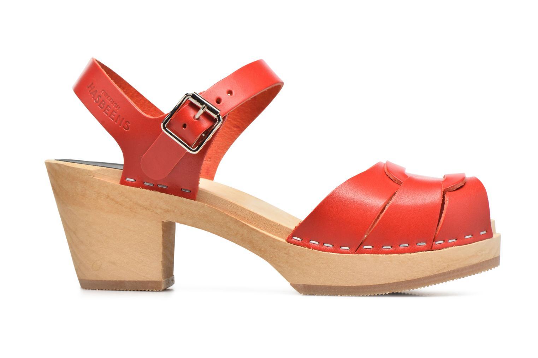 Sandales et nu-pieds Swedish Hasbeens Peep Toe High Rouge vue derrière