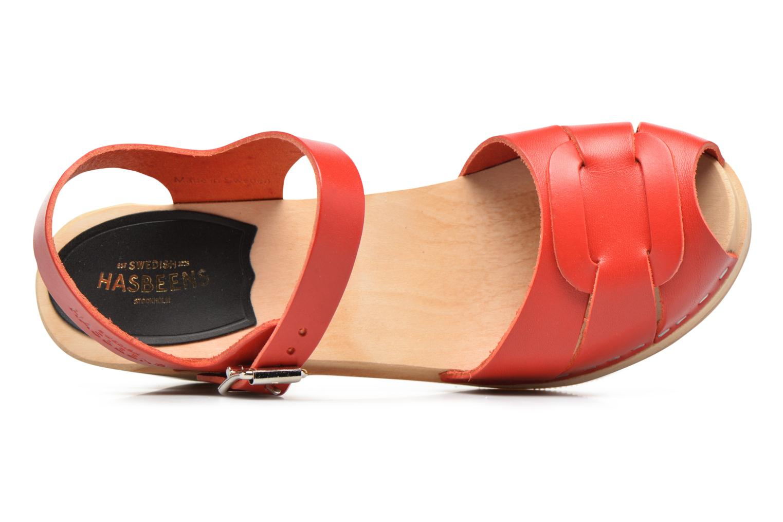 Sandales et nu-pieds Swedish Hasbeens Peep Toe High Rouge vue gauche