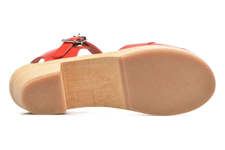 Sandales et nu-pieds Swedish Hasbeens Peep Toe High Rouge vue haut