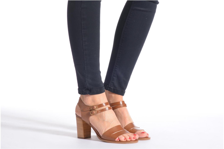 Sandales et nu-pieds Georgia Rose Chapon Bleu vue bas / vue portée sac