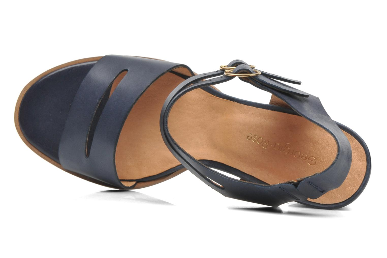 Sandales et nu-pieds Georgia Rose Chapon Bleu vue gauche