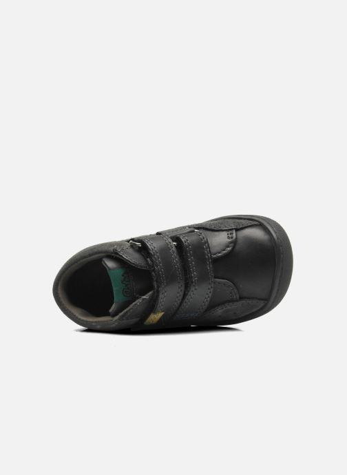 Schoenen met klitteband Aster Pavel Zwart links