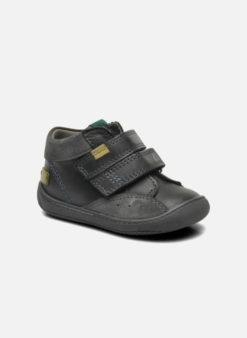 Schoenen met klitteband Aster Pavel Zwart detail