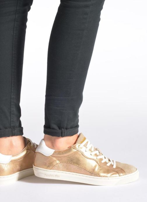 Trainers Pantofola d'Oro Gianna Low Ladies Bronze and Gold view from underneath / model view