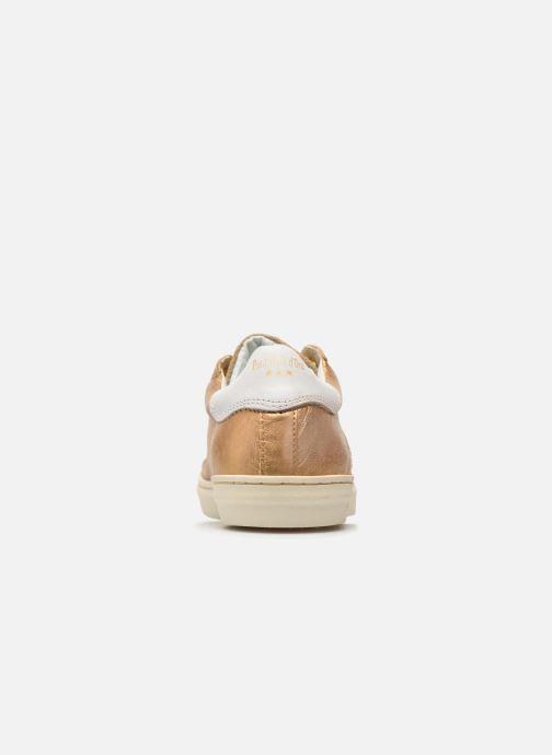 Baskets Pantofola d'Oro Gianna Low Ladies Or et bronze vue droite